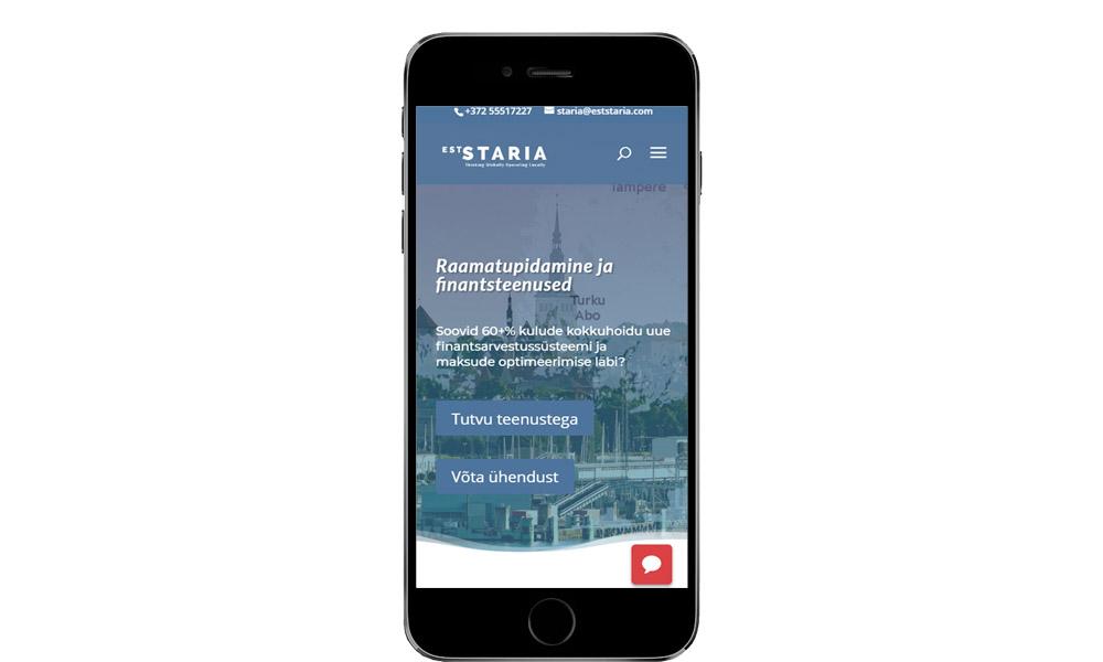 eststaria.com mobiili vaade