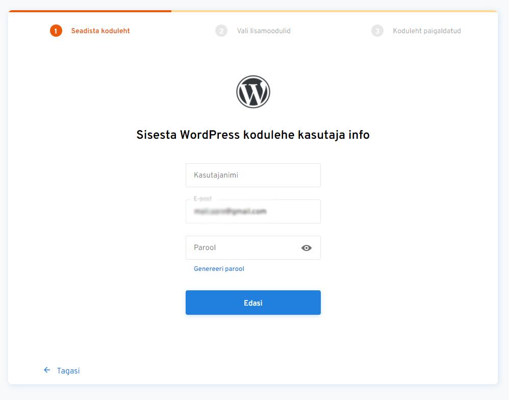 paigalda wordpress